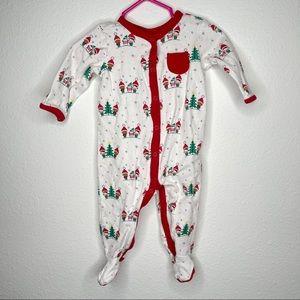 Gymboree footie pajamas winter snow sz 3-6 mo new